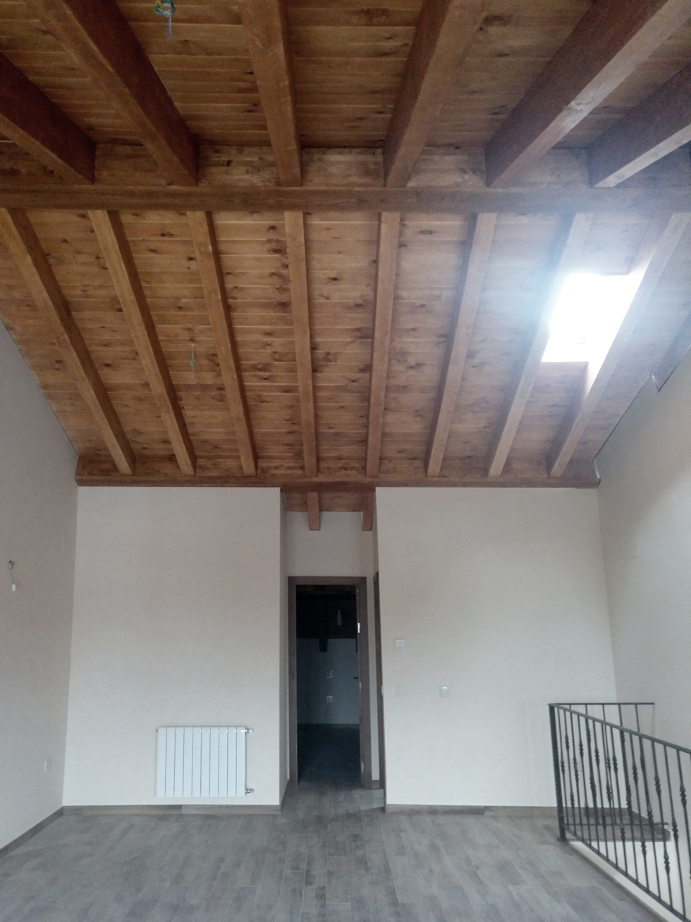 reforma cubierta madera
